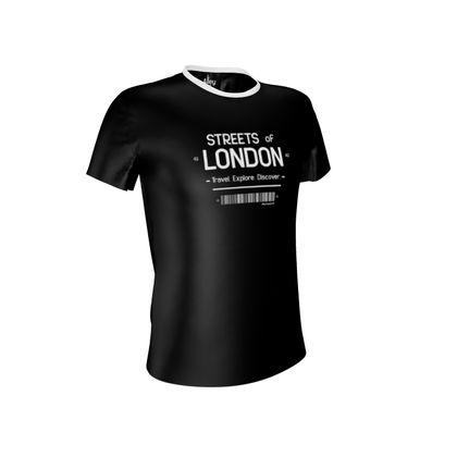 Streets Of London Black Unisex Tee