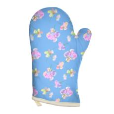 Blue Oven Glove [Rt. hand shown]  My Sweet Pea  Periwinkle