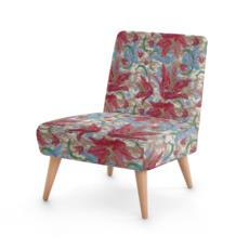 Red, Blue Occasional Chair  Lily Garden  Cocoa