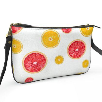 Pochette Double Zip Bag- Emmeline Anne Juicy Fruits