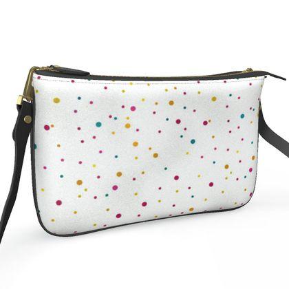 Pochette Double Zip Bag- Emmeline Anne Space Dots