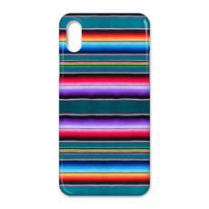 iPhone X Case – Serape-Print #7 Teal