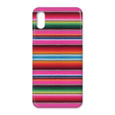 iPhone X Case – Serape-Print #4 Hot Pink