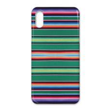 iPhone X Case – Serape-Print #3 Green