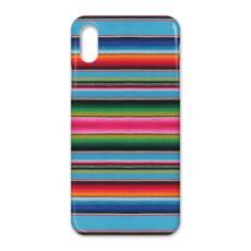 iPhone X Case – Serape-Print #5 Baby Blue