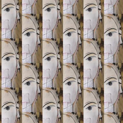 Faces design fabric