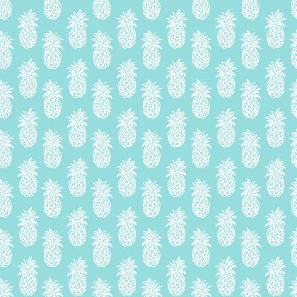 Blue pineapple fabric  by Magenta Rose Designs at Contrado