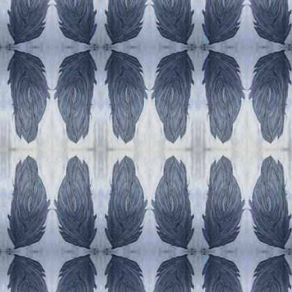 Feathers fabric print