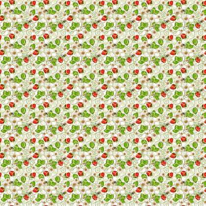 Strawberry Bees Fabric