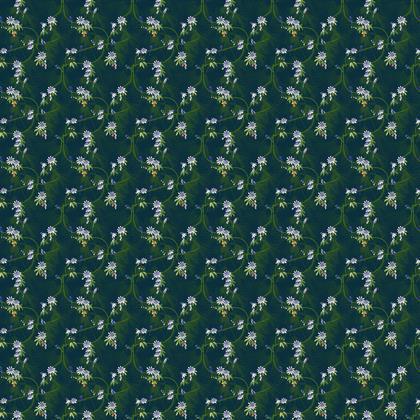Paradise Kingfishers Collection - Luxury Fabric