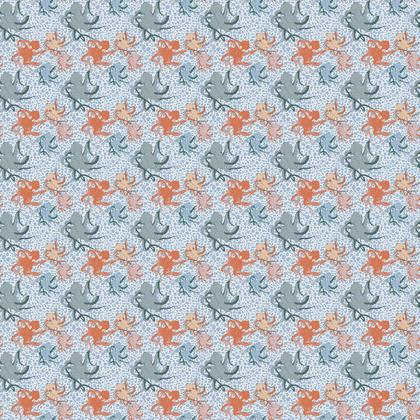 Sea Life Collection_Octopus Family - Luxury Fabric