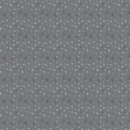 Grey Floral Branches Fabric