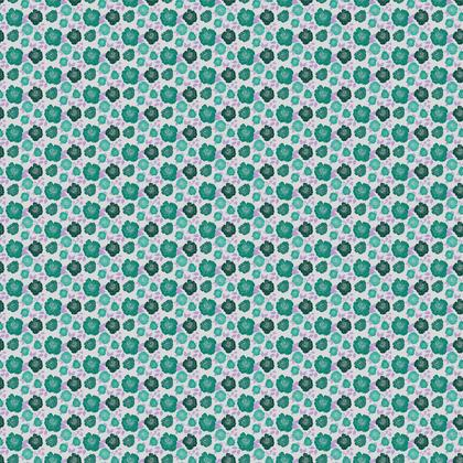 Teal Roses Fabric