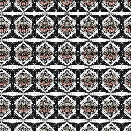 Textile Design Print - Mono Diamonds