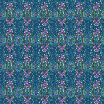 Textile Design Print - Delicate Blues