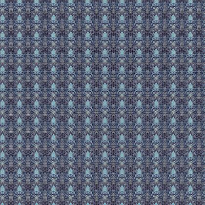 Textile Design Print - Blue nouveau