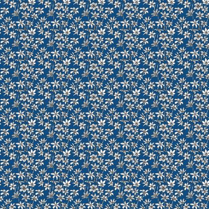 Blue Glory of the Snow Floral Fabric