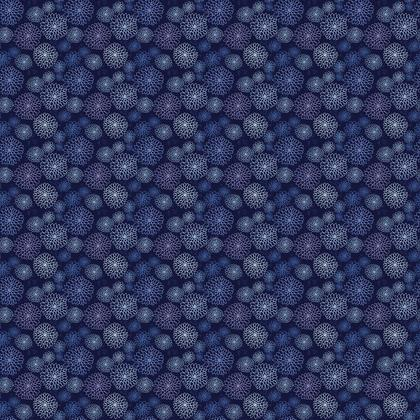 Chrysanthemum Collection (China Blues) - luxury fabric