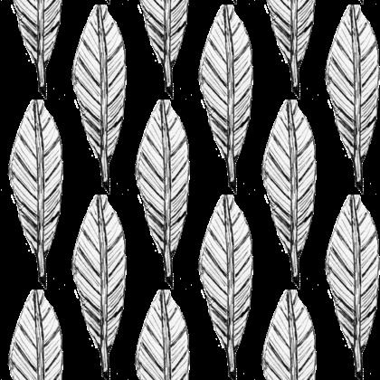 Black and White Feather Design Printing