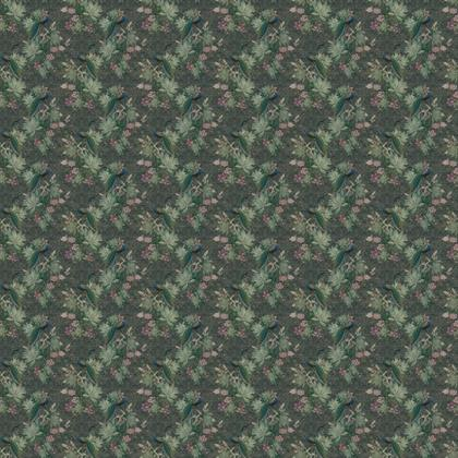 The peacok's botanical garden - fabric