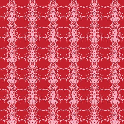 Pink and Red Teasel Printed Fabric
