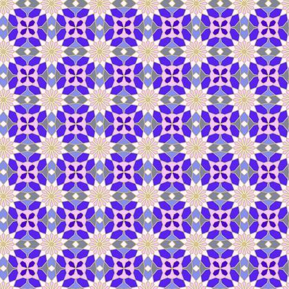 Morroccan Kaleidoscope Pattern Fabric