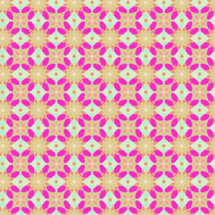 Fabric Printing Pink Lame Geometric Pattern