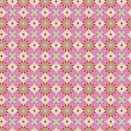 Fabric Printing Fashion Pink Kaleidoscope