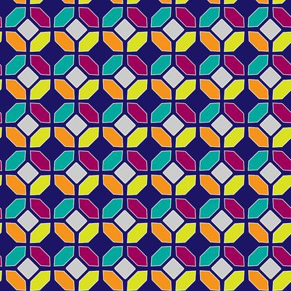 Fabric Printing Dark Mosaic Pattern