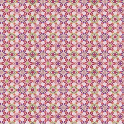 Fabric Printing Floral Mosaic
