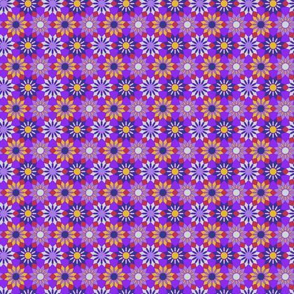 Fabric Printing Purple Floral Pattern