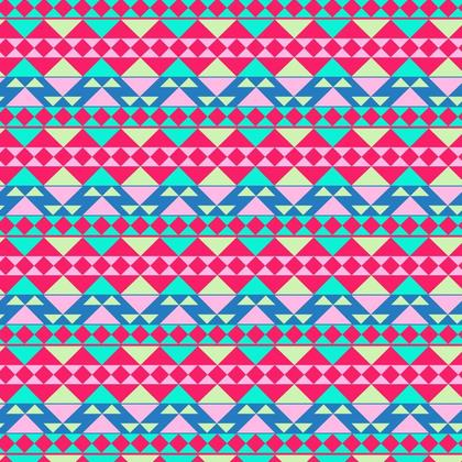 Fabric Printing Pink Mayan Pattern