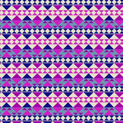 Fabric Printing Purple Mayan Pattern