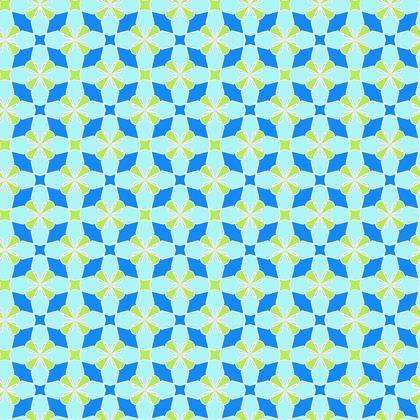 Fabric Printing Blue Green Mosaic