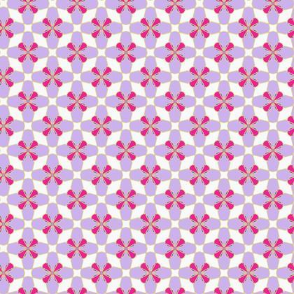 Fabric Printing Purple Red Mosaic