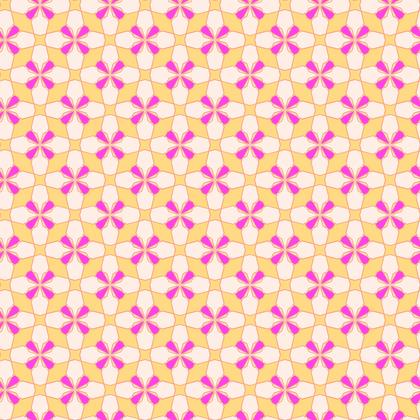 Fabric Printing Yellow Pink Mosaic