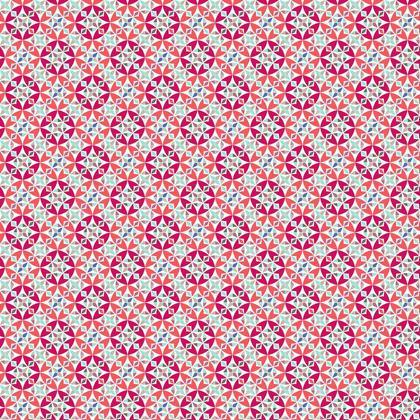 Fabric Printing Arabesque Tile Pattern