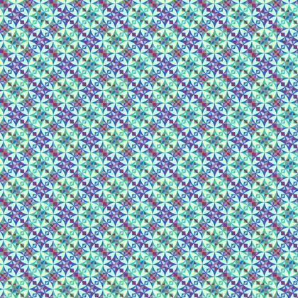 Fabric Printing Arabesque Green Tile Pattern