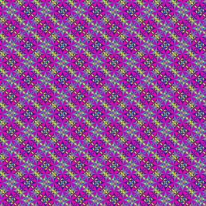 Fabric Printing Arabesque Purple Tile Pattern