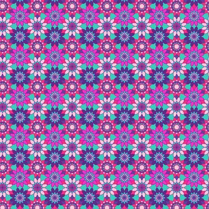 Fabric Printing Purple Pink Floral Pattern