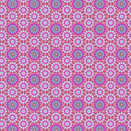 Fabric Printing Arabic Pink Pattern
