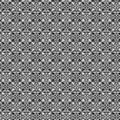 Fabric Printing Black White Tile Pattern