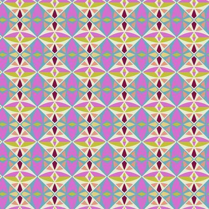 Fabric Printing Colorful Tile