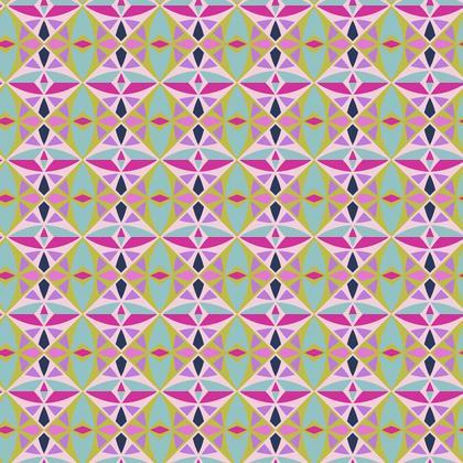 Fabric Printing Pink Geen Tile