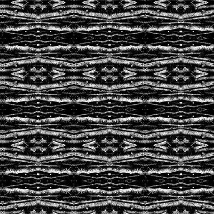 Logs inkblot pattern.