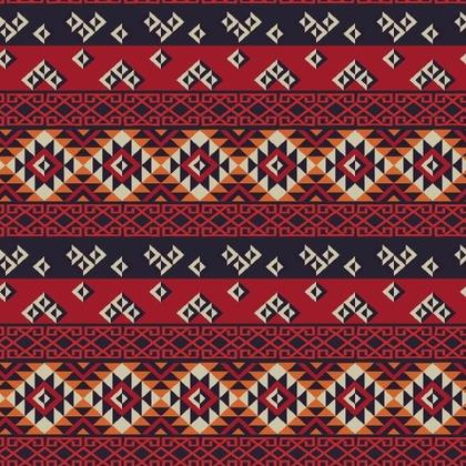 Fabric Printing Mayan Pattern