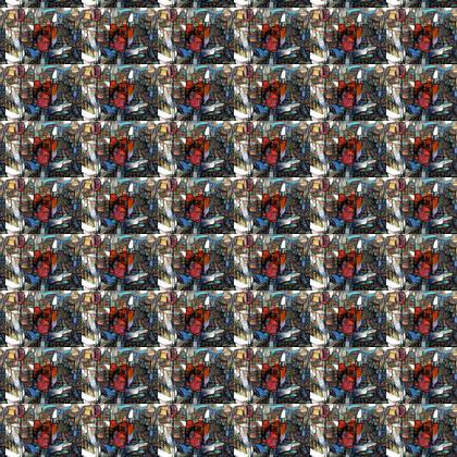 Red Tulip Fabric