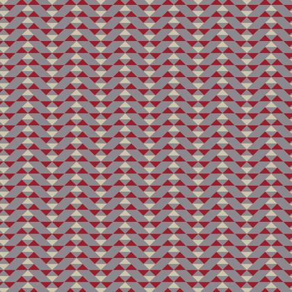 Fabric Printing Mayan Pattern Red Grey