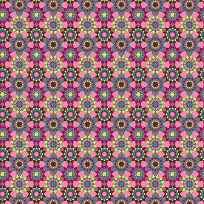 Fabric Printing Kaleidoscope Pattern