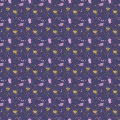 Gold and Purple Splotches Fabric